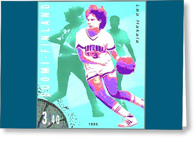 Basketball Greeting Card by Lanjee Chee