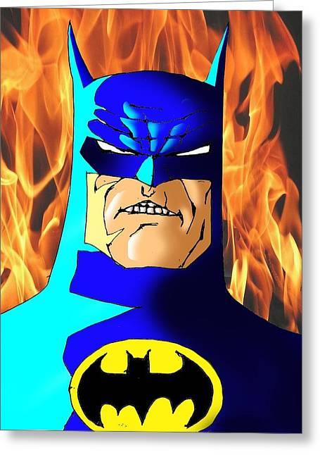 Old Batman Greeting Card