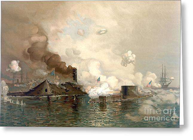 Battle Of Hampton Roads Greeting Card
