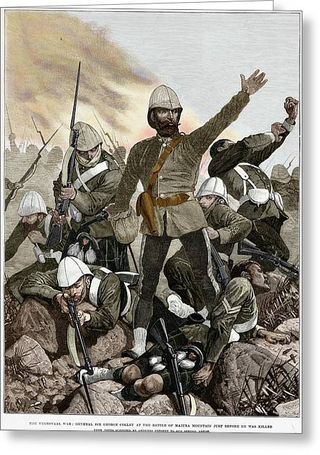 British Empire Greeting Cards - Battle Of Majuba, 1881 Greeting Card by Granger