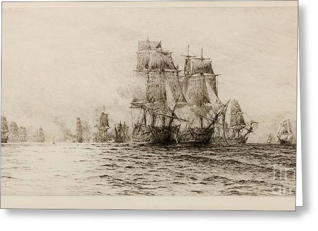 Battle Of Trafalgar Greeting Card