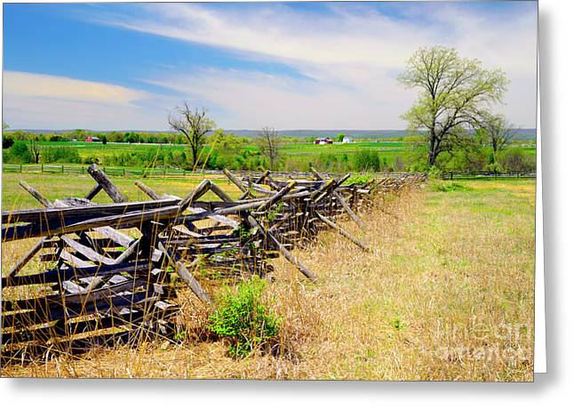 Battlefield Landscape Greeting Card by Paul W Faust - Impressions of Light