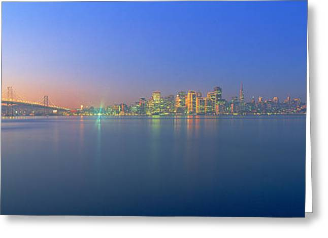 Bay Bridge & San Francisco Greeting Card by Panoramic Images