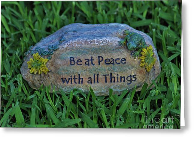 Greeting Card featuring the photograph 2- Be At Peace by Joseph Keane