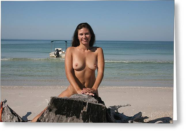 Greeting Card featuring the photograph Beach Girl by Lucky Cole