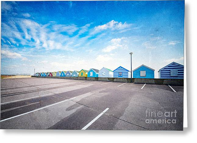 Beach Huts Greeting Card by Svetlana Sewell