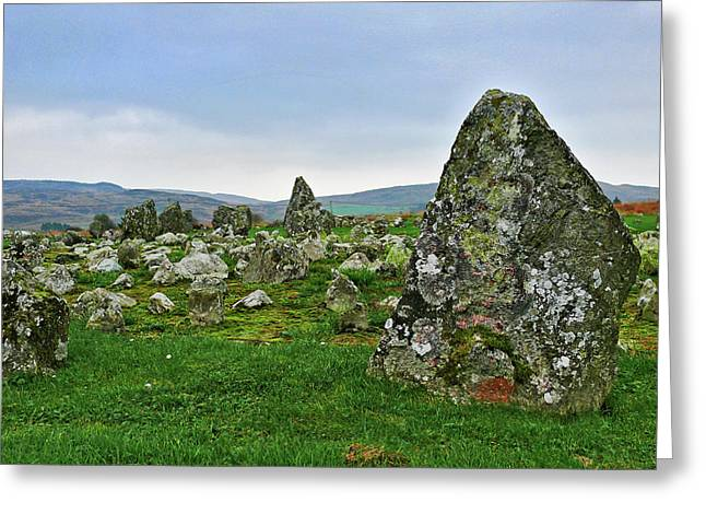 Greeting Card featuring the photograph Beaghmore Stone Circles by Colin Clarke
