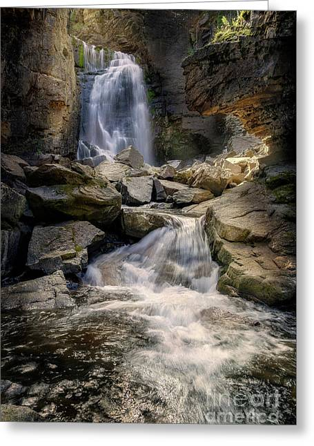 Greeting Card featuring the photograph Beartooth Falls by Craig J Satterlee