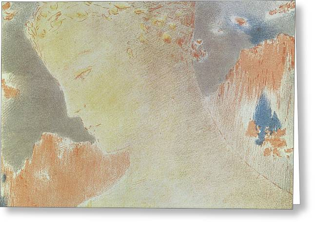 Beatrice Greeting Card by Odilon Redon