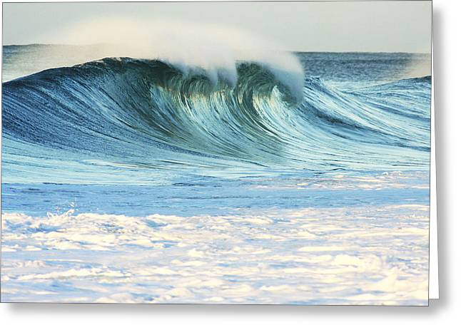 Cavataio Greeting Cards - Beautiful Wave Breaking Greeting Card by Vince Cavataio - Printscapes