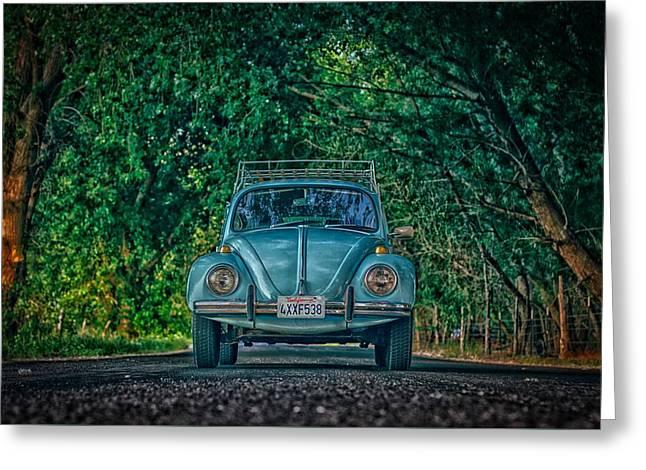 Beetle Under Trees Greeting Card