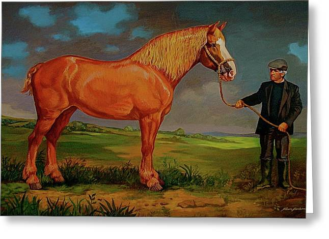 Belgian Draft Horse. Greeting Card by Alan Carlson