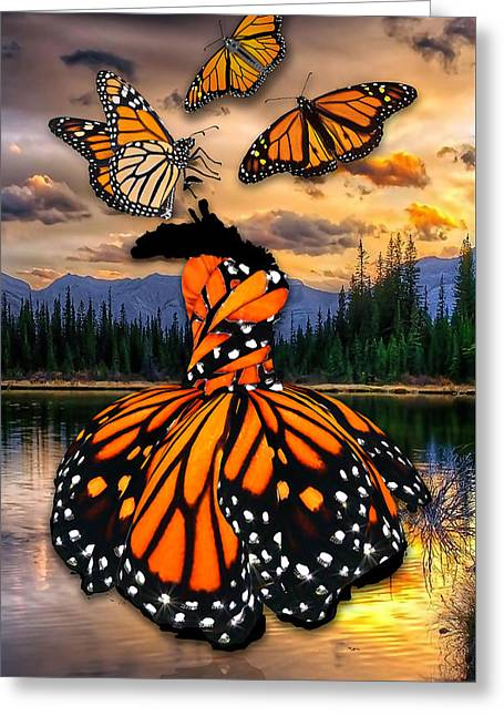 Greeting Card featuring the mixed media Believe by Marvin Blaine