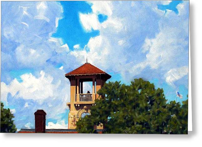 Bell Tower Greeting Card by Kevin Lawrence Leveque
