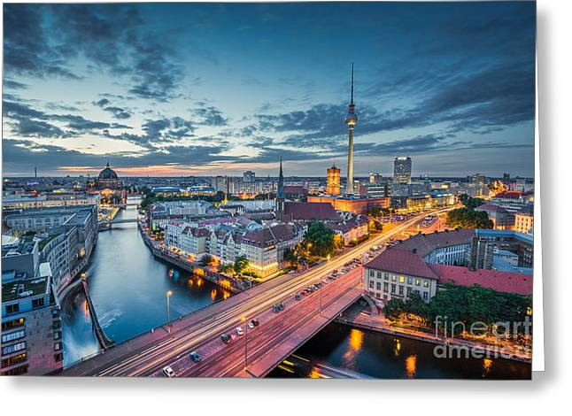 Berlin Greeting Card by JR Photography