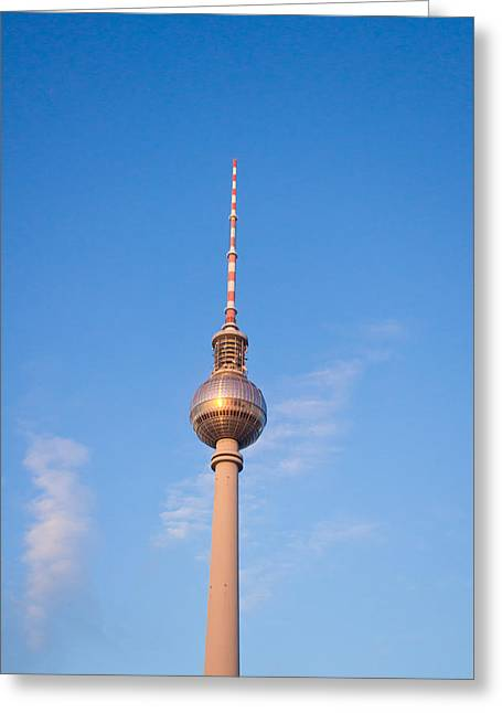 Berlin Tv Tower Greeting Card by Tom Gowanlock