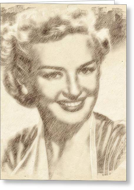 Betty Grable Hollywood Icon By John Springfield Greeting Card by John Springfield