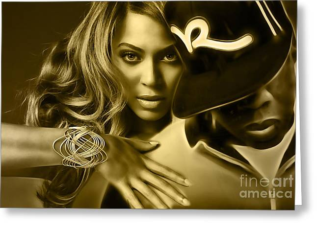Beyonce Jay Z Collection Greeting Card