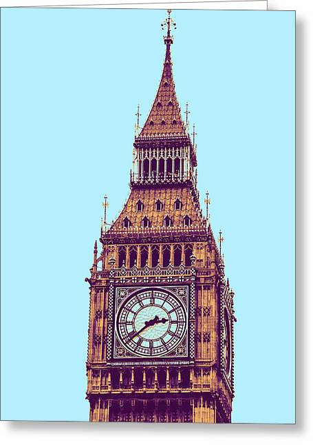 Big Ben Tower, London  Greeting Card by Asar Studios