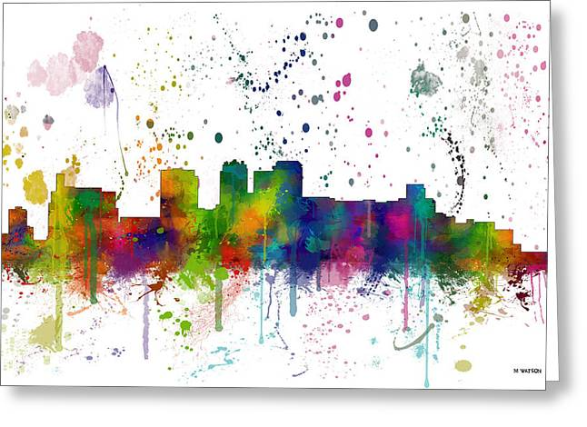 Birmingham Alabama Skyline Greeting Card