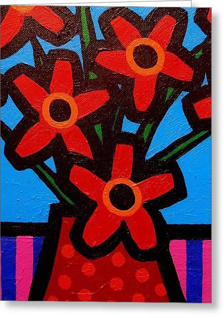 Black Eyed Flowers Greeting Card by John  Nolan