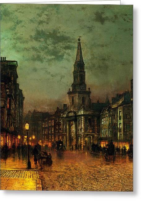 Blackman Street London Greeting Card by John Atkinson Grimshaw