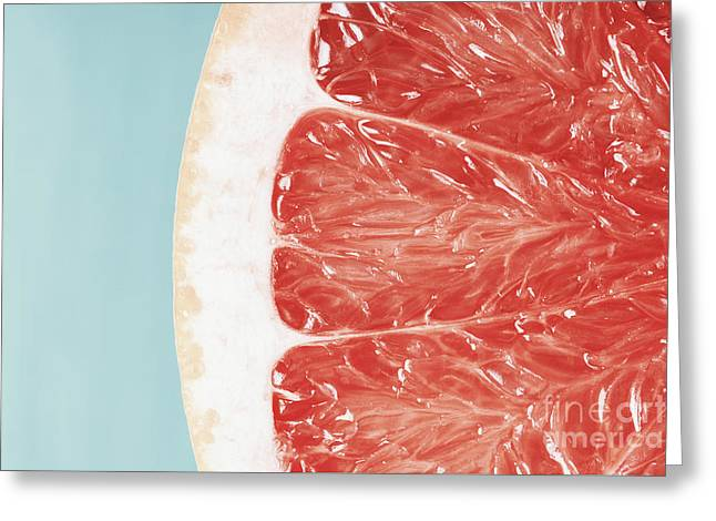Blood Orange Slice Macro Details Greeting Card by Radu Bercan