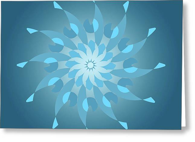 Blue Abstract Star For Home Decoration Greeting Card