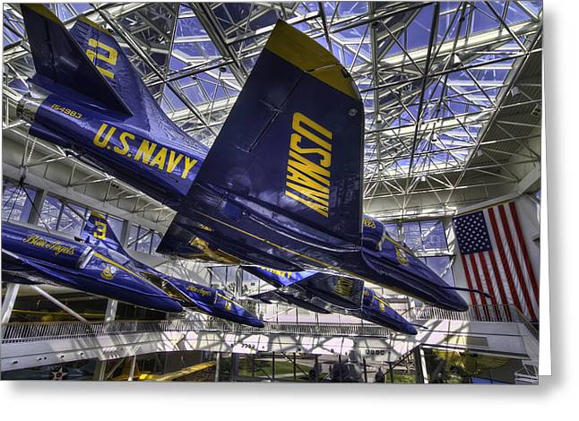 Blue Angels Greeting Card by Tim Stanley