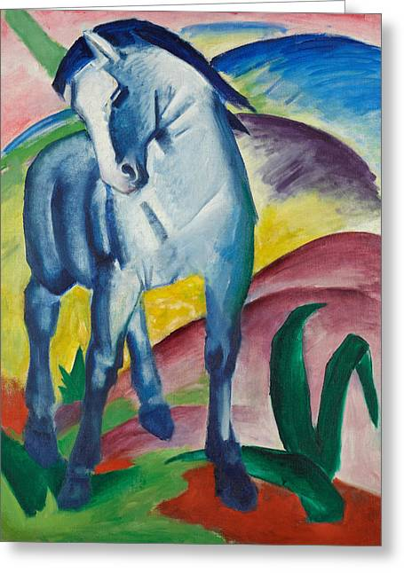 Blue Horse I Greeting Card