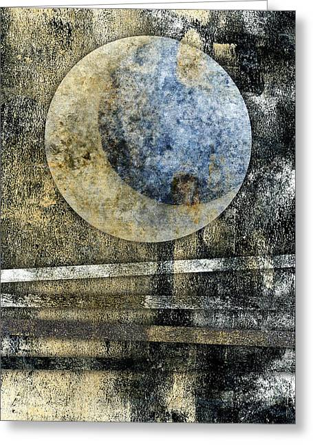 Blue Moon Greeting Card by Carol Leigh