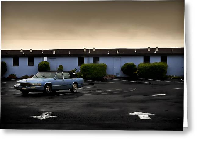 Blue Motel Greeting Card by John Hansen