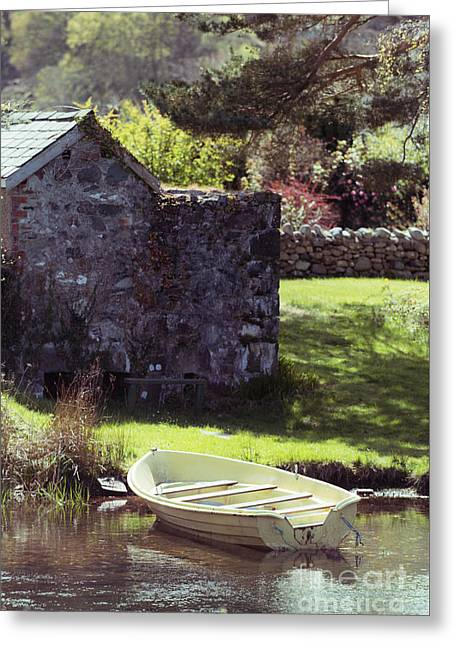 Boat At Llyn Padarn Greeting Card by Amanda Elwell