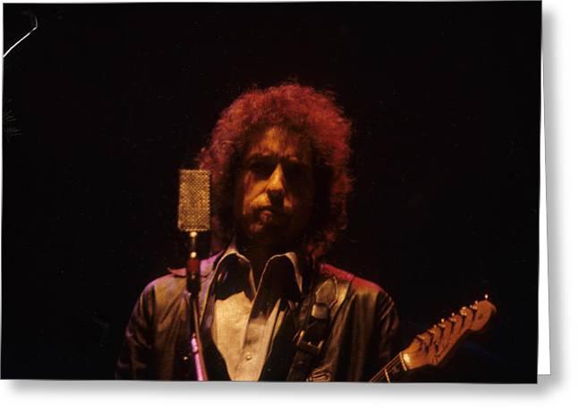 Bob Dylan Greeting Card by David Bishop