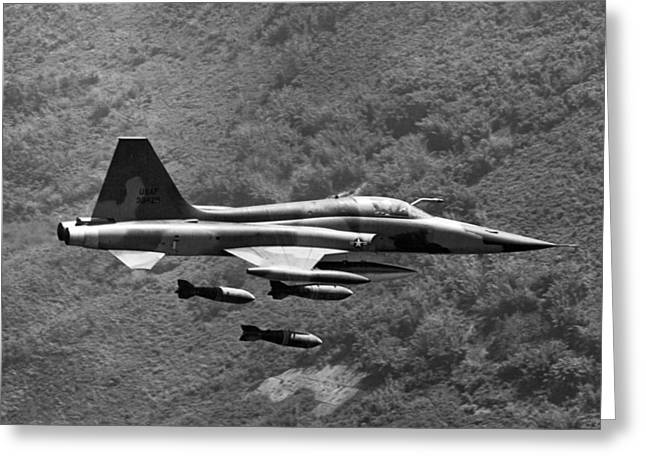 Bombing Vietnam Greeting Card