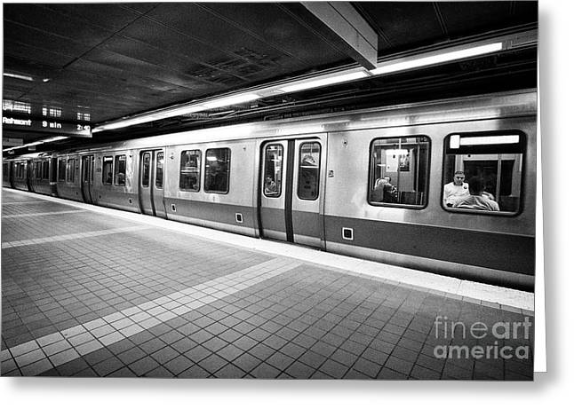 Boston Subway 'the T' Red Line Station South Station Usa Greeting Card