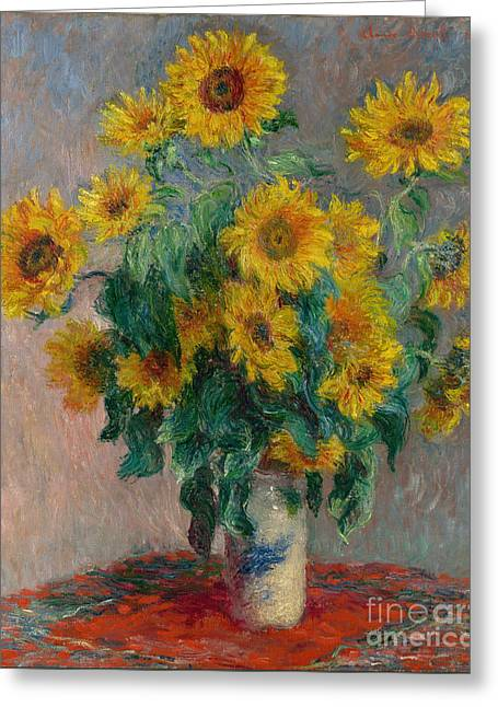 Bouquet Of Sunflowers Greeting Card by Claude Monet