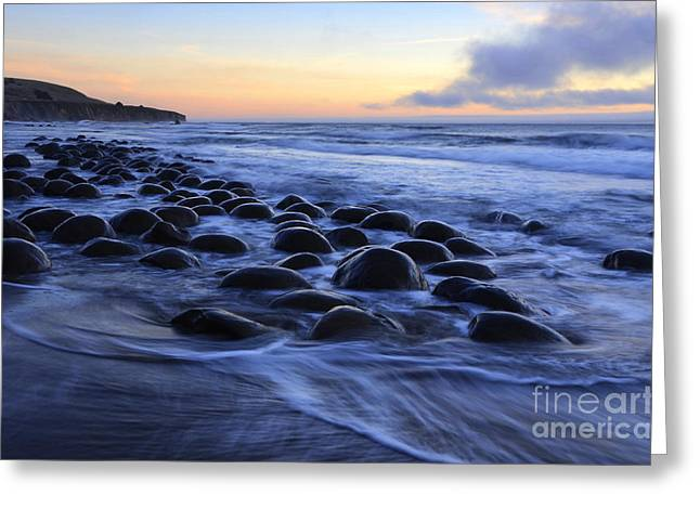 California Ocean Photography Greeting Cards - Bowling Ball Beach Greeting Card by Bob Christopher