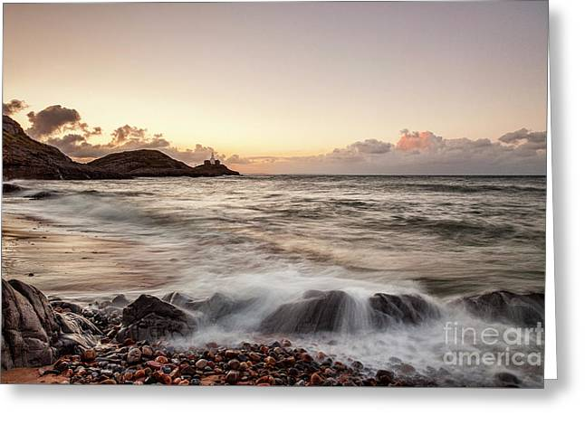 Bracelet Bay And The Mumbles Lighthouse Greeting Card by Colin and Linda McKie