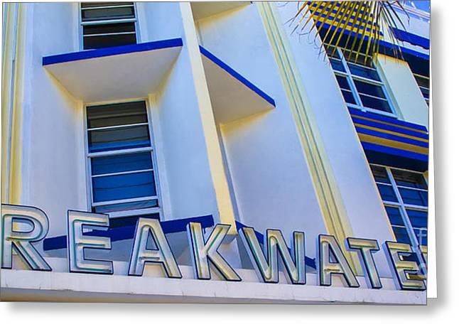 Iconic Breakwater Hotel South Beach Greeting Card by Rene Triay Photography