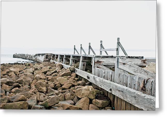 Breakwater Greeting Card by Tom Gowanlock