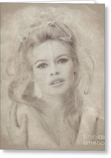 Brigitte Bardot Hollywood Actress Greeting Card