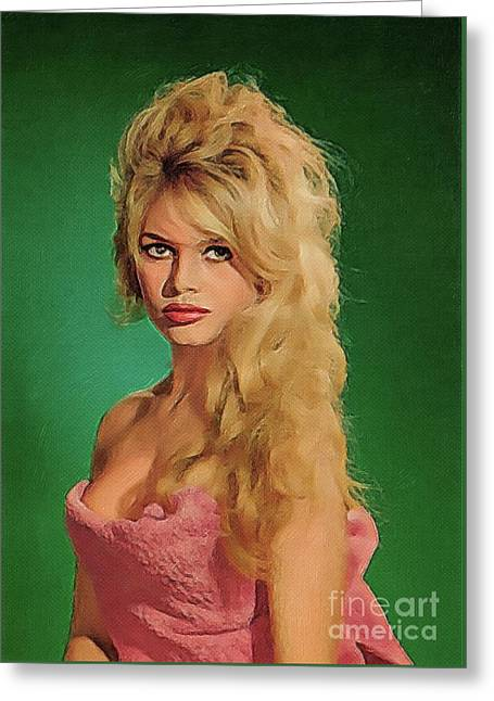 Brigitte Bardot, Vintage Actress Greeting Card