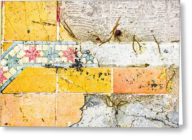 Broken Tiles Greeting Card