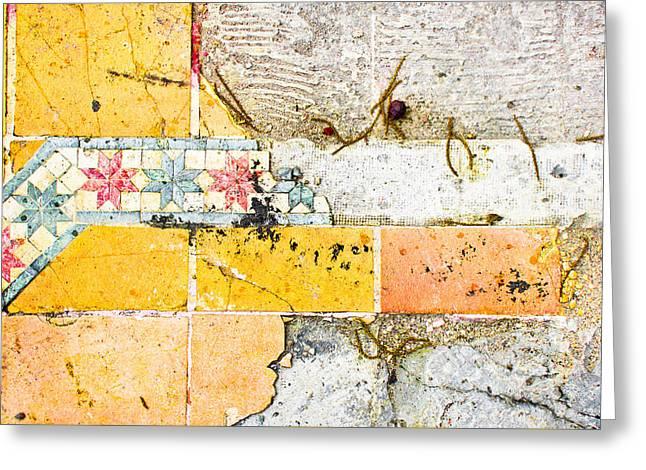 Broken Tiles Greeting Card by Tom Gowanlock