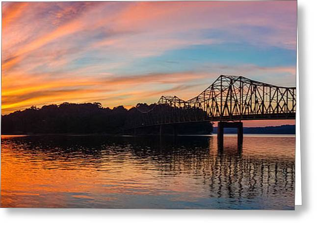 Browns Bridge Sunset Greeting Card