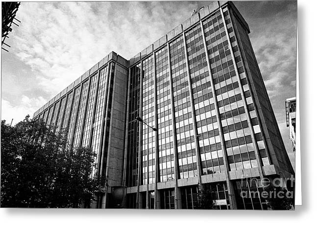 brunel house office building home to hmrc amongst others Cardiff Wales United Kingdom Greeting Card by Joe Fox