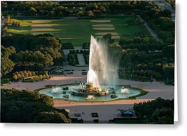 Buckingham Fountain Chicago Greeting Card by Steve Gadomski