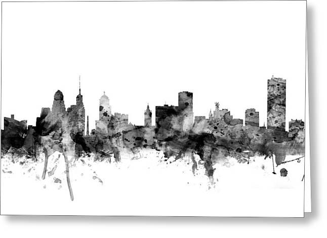 Buffalo New York Skyline Greeting Card by Michael Tompsett