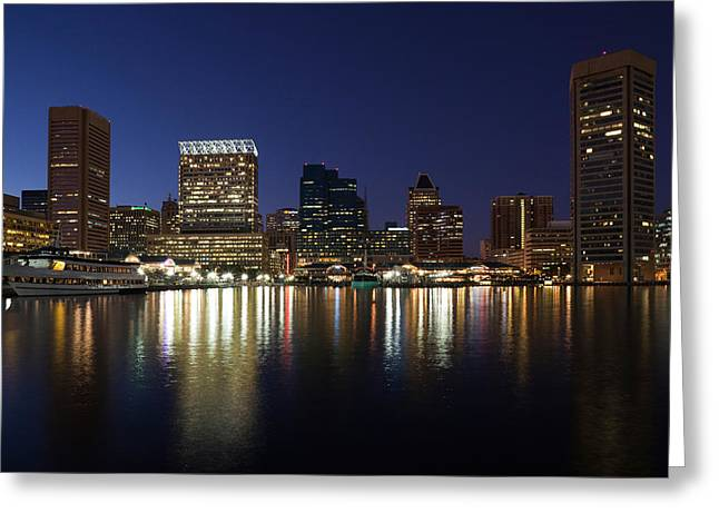 Buildings At The Waterfront, Inner Greeting Card